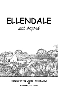Ellendale and Beyond- Cover