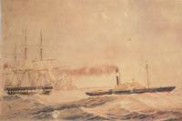 The 'Ellenborough' under tow: 1854-1862