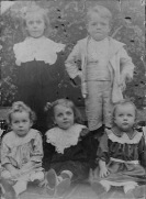 Lyons' Children: Rita, Francis, Clarice, Kath and Florence Lyons; July 1910
