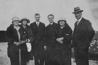 Johanna Josephine Hart (Nee Lyons), Florence Lyons, Kevin Hart, Father Frank Lyons and his parents Johanna and William Lyons - probably about 1930