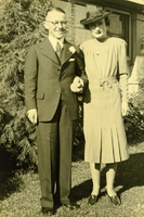 Leo Bowen and Dorothea Hanigan on their wedding day, 1938.
