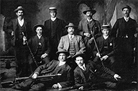 South West District Union Team, winners of the District Union Championship in 1910 at Kalgoorlie