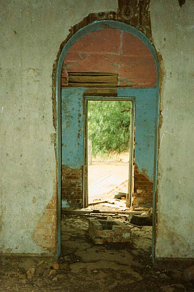 View through the main corridor of the homestead