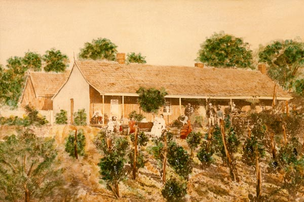 The Ellendale homestead about 1880