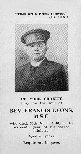 Fr. Francis Lyons - Rembrance Card
